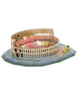 Puzzle 3D cu LED Cubic Fun - Colosseum, 185 piese (Cubic-Fun-L194H)