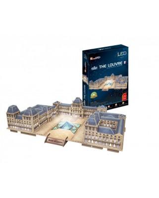 Puzzle 3D cu LED Cubic Fun - Le Louvre, 137 piese (Cubic-Fun-L517h)