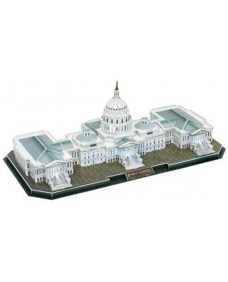 Puzzle 3D cu LED Cubic Fun - The US Capitol, 150 piese (Cubic-Fun-L193H)
