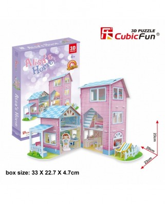 Puzzle 3D Cubic Fun - Alisa's Home, 73 piese (Cubic-Fun-P689h)