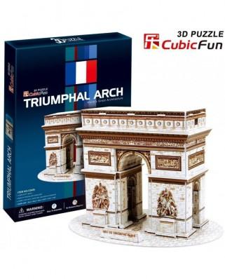 Puzzle 3D Cubic Fun - Arch of Triumph, 26 piese (Cubic-Fun-C045H)