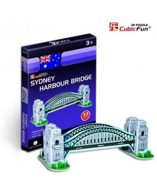 Puzzle 3D Cubic Fun - Australia: Sydney Harbour Bridge, 33 piese (Cubic-Fun-S3002H)