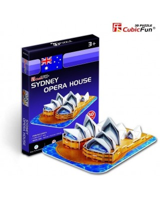 Puzzle 3D Cubic Fun - Australia: Sydney Opera House, 30 piese (Cubic-Fun-S3001H)