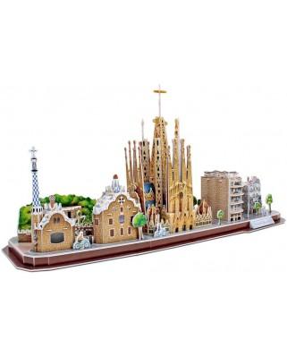 Puzzle 3D Cubic Fun - Barcelona, 186 piese (Cubic-Fun-MC256h)