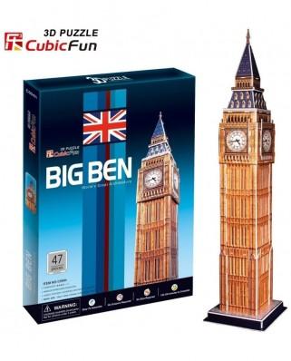 Puzzle 3D Cubic Fun - Big Ben, 47 piese (Cubic-Fun-C094H)