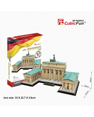 Puzzle 3D Cubic Fun - Brandenburg Gate, Berlin, 150 piese (Cubic-Fun-MC207h)