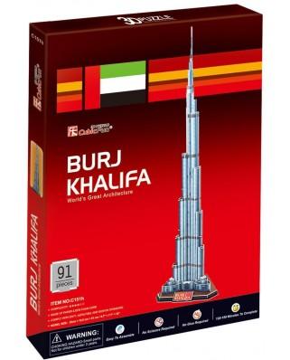 Puzzle 3D Cubic Fun - Burj Khalifa, 92 piese (Cubic-Fun-C151H)