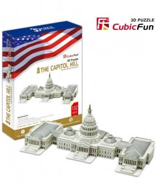 Puzzle 3D Cubic Fun - Capitol, 132 piese (Cubic-Fun-MC074H)