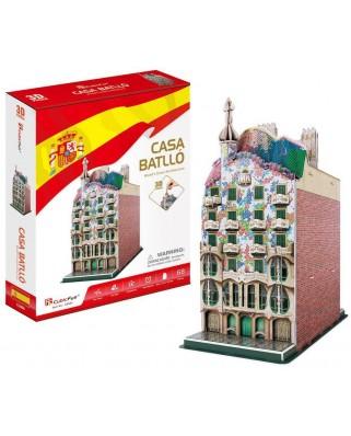 Puzzle 3D Cubic Fun - Casa Batllo, 68 piese (Cubic-Fun-C240h)