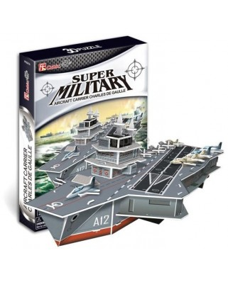 Puzzle 3D Cubic Fun - Charles de Gaulle Aircraft Carriers, 60 piese (Cubic-Fun-P631H)