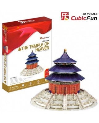 Puzzle 3D Cubic Fun - China, Beijing : The Temple of Heaven, 111 piese (Cubic-Fun-MC072H)