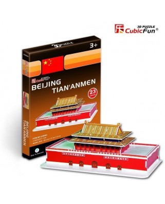 Puzzle 3D Cubic Fun - China, Beijing: Tiananmen, 23 piese (Cubic-Fun-S3004H)