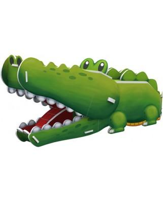 Puzzle 3D Cubic Fun - Crocodile, 10 piese (Cubic-Fun-K1502H)