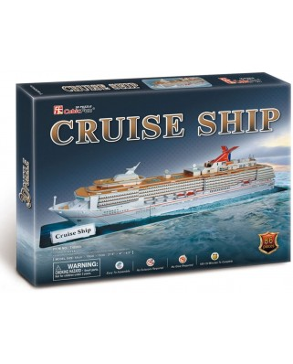 Puzzle 3D Cubic Fun - Cruising Ship, 86 piese (Cubic-Fun-T4006H)