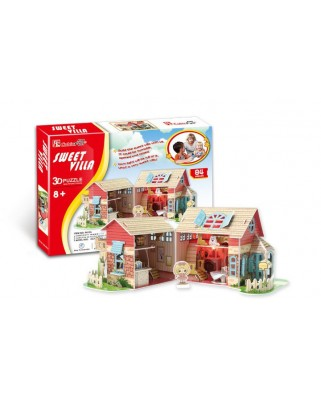 Puzzle 3D Cubic Fun - Dolls House, 84 piese (Cubic-Fun-P615H)