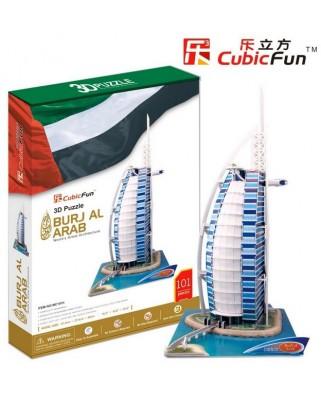 Puzzle 3D Cubic Fun - Dubai, Burj Al Arab, 101 piese (Cubic-Fun-MC101H)
