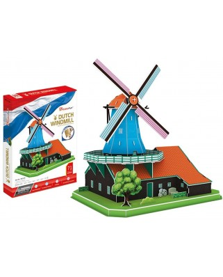 Puzzle 3D Cubic Fun - Dutch Windmill, 71 piese (Cubic-Fun-MC219h)