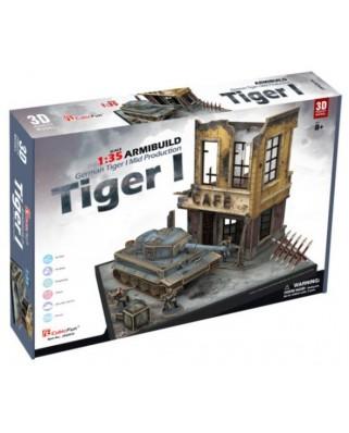 Puzzle 3D Cubic Fun - German Tiger I, 258 piese (Cubic-Fun-JS4201h)