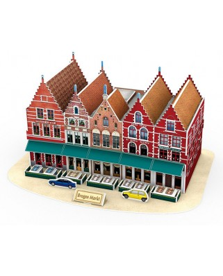 Puzzle 3D Cubic Fun - Grand Place, 45 piese (Cubic-Fun-C182H)