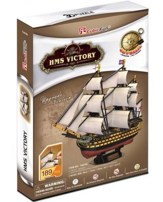 Puzzle 3D Cubic Fun - HMS Victory, 189 piese (Cubic-Fun-T4019H)