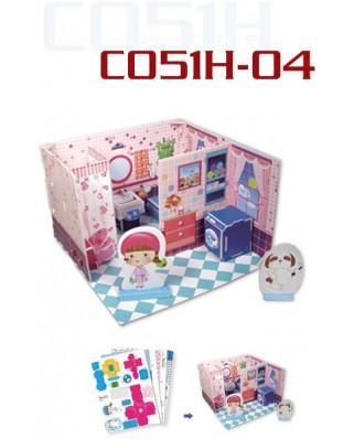 Puzzle 3D Cubic Fun - Honey Room: Bathroom, 41 piese (Cubic-Fun-C051-04H)