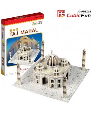 Puzzle 3D Cubic Fun - India : Taj Mahal, 39 piese (Cubic-Fun-S3009H)