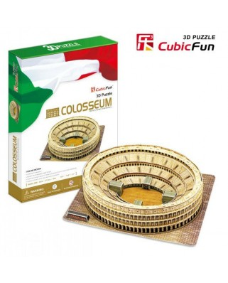 Puzzle 3D Cubic Fun - Italy, Rome: The Coliseum, 84 piese (Cubic-Fun-MC055H)