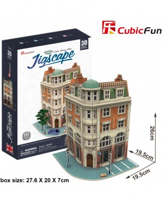 Puzzle 3D Cubic Fun - Jigscape Collection - Corner Savings Bank, 94 piese (Cubic-Fun-HO4102h)