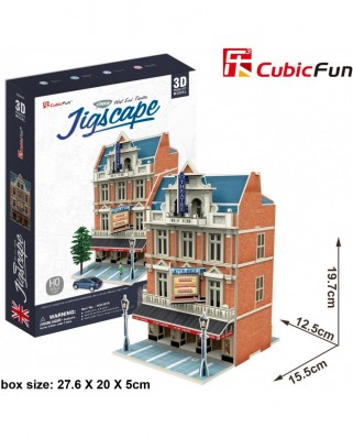 Puzzle 3D Cubic Fun - Jigscape Collection - West End Theatre, 55 piese (Cubic-Fun-HO4101h)