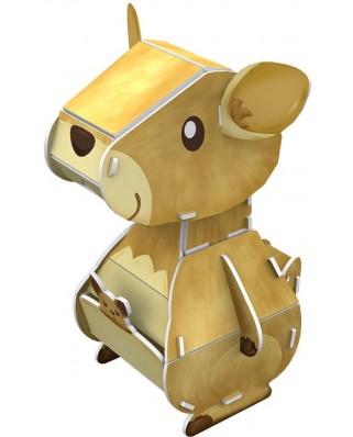 Puzzle 3D Cubic Fun - Kangaroo, 14 piese (Cubic-Fun-K1504H)