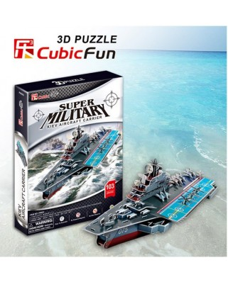 Puzzle 3D Cubic Fun - Kiev Aircraft Carrier, 103 piese (Cubic-Fun-P602H)