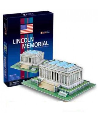 Puzzle 3D Cubic Fun - Lincoln Memorial, 41 piese (Cubic-Fun-C104H)