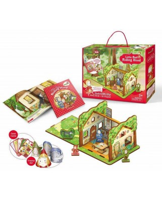 Puzzle 3D Cubic Fun - Little Red Riding Hood, 35 piese (Cubic-Fun-E1601h)