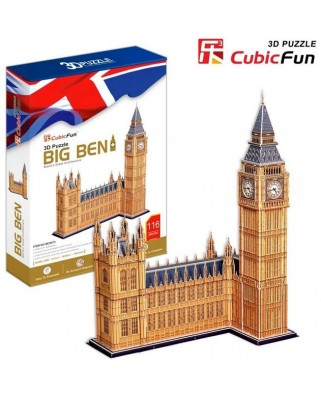 Puzzle 3D Cubic Fun - London: Big Ben, 117 piese (Cubic-Fun-MC087H)