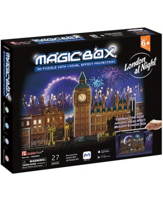 Puzzle 3D Cubic Fun - Magic Box - London, 27 piese (Cubic-Fun-OM3606h)