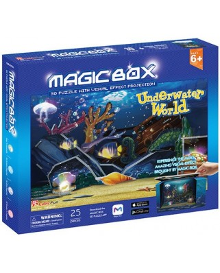 Puzzle 3D Cubic Fun - Magic Box - Underwater World, 28 piese (Cubic-Fun-OM3603h)