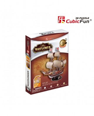 Puzzle 3D Cubic Fun - May Flower, 111 piese (Cubic-Fun-T4009H)