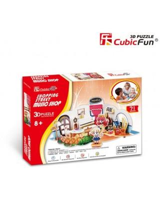 Puzzle 3D Cubic Fun - Music Store, 71 piese (Cubic-Fun-P627H)