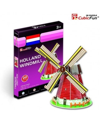 Puzzle 3D Cubic Fun - Netherlands Mill, 20 piese (Cubic-Fun-S3005H)