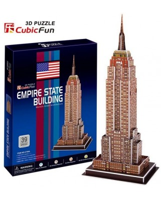 Puzzle 3D Cubic Fun - New York : Empire State Building, 39 piese (Cubic-Fun-C704H)