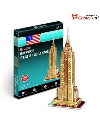 Puzzle 3D Cubic Fun - New-York : Empire State Building, 24 piese (Cubic-Fun-S3003H)