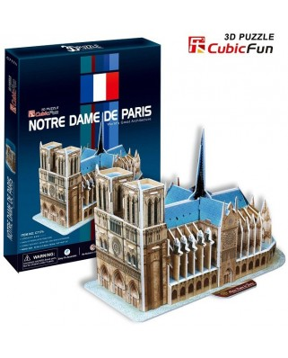 Puzzle 3D Cubic Fun - Our Lady of Paris, 40 piese (Cubic-Fun-C717H)
