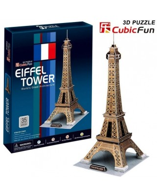 Puzzle 3D Cubic Fun - Paris: Eiffel Tower, 35 piese (Cubic-Fun-C044H)