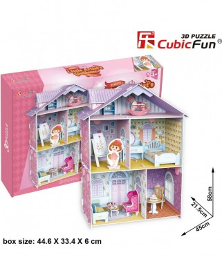 Puzzle 3D Cubic Fun - Pianist's Home, 60 piese (Cubic-Fun-K1201h)