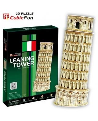 Puzzle 3D Cubic Fun - PisaTower, 13 piese (Cubic-Fun-C706H)