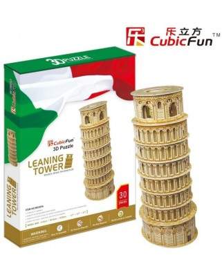 Puzzle 3D Cubic Fun - PisaTower, 30 piese (Cubic-Fun-MC053H)