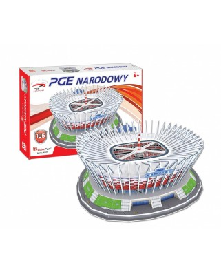 Puzzle 3D Cubic Fun - Polnisch Nationalstadium, 105 piese (Cubic-Fun-MC249H)