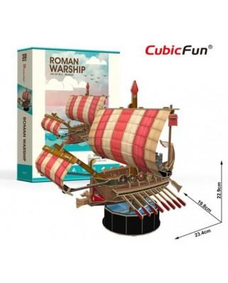 Puzzle 3D Cubic Fun - Roman Warship, 85 piese (Cubic-Fun-T4032h)