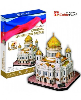 Puzzle 3D Cubic Fun - Russia: Christ-Savior Cathedral of of Moscow, 127 piese (Cubic-Fun-MC125H)