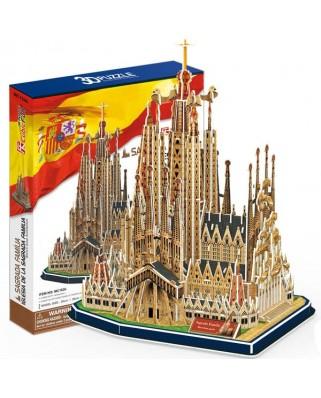 Puzzle 3D Cubic Fun - Sagrada Familia, 194 piese (Cubic-Fun-MC153H)